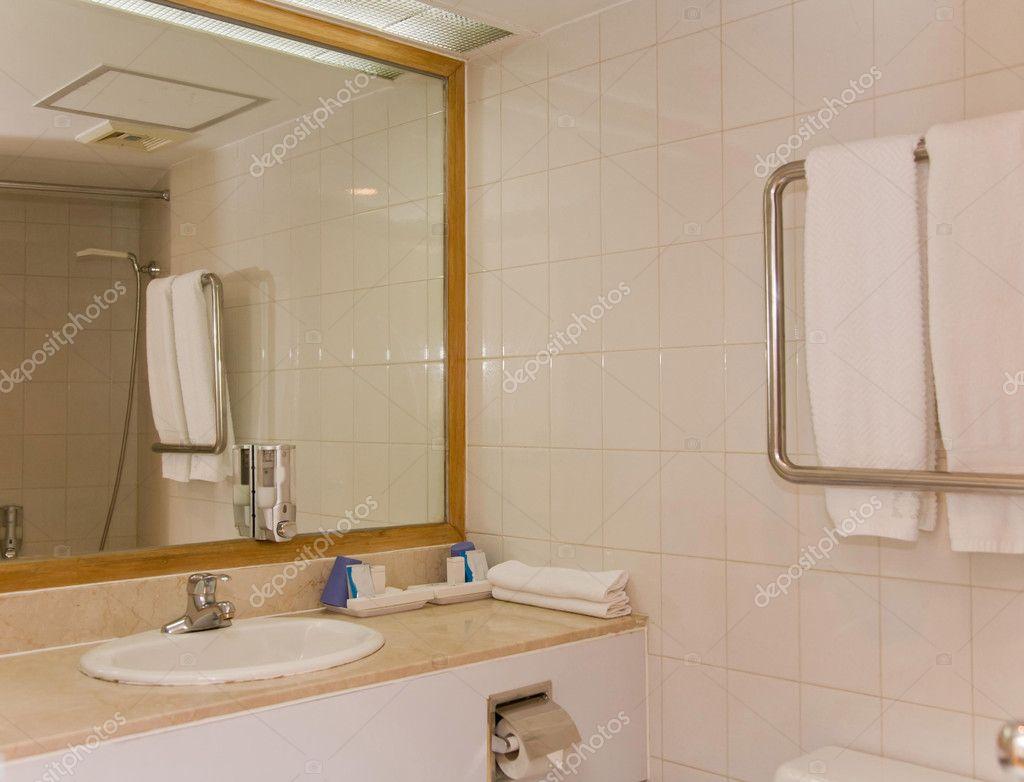 Bathroom interior of brand new luxury resort hotel stock for Latest bathroom interior