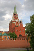 Troitskaya Tower of Moscow Kremlin in Russia — Stock Photo