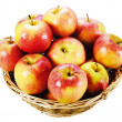 Fresh red apples isolated — Stock Photo