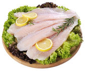 Fresh Fish Fillet and vegetables — Stock Photo