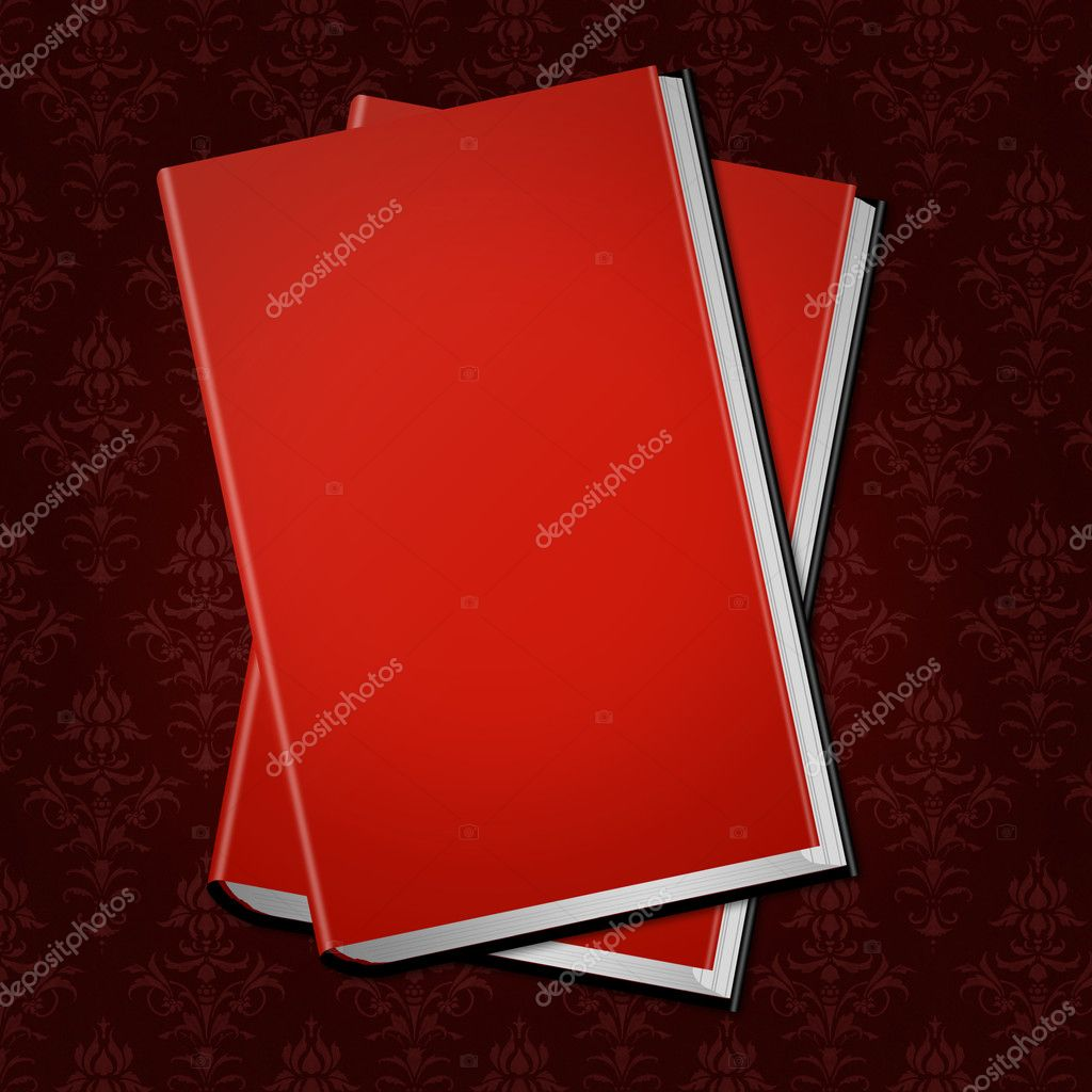 Red Cover Cookbook : Red cover book — stock photo imaginative