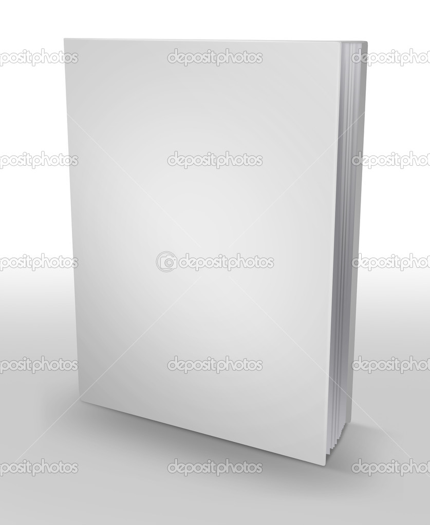 3d hardcover book isolated on white background  Stock Photo #4748383