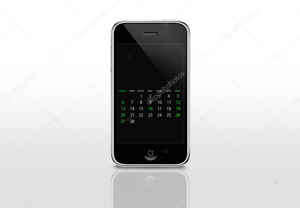 Calendar screen on iphone — Zdjęcie stockowe #4748698