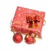 Christmas gifts, with red balls — Stock Photo #4400814