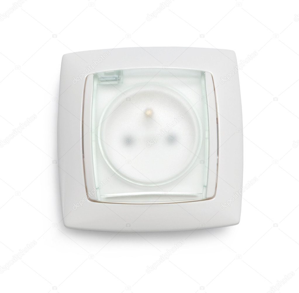White Power Outlet and socket isolated   Stock Photo #4914793