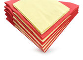 Colourful paper napkins — Stock Photo