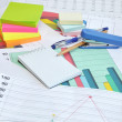 Set of the different office tools — Stock Photo