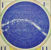 Old sky map — Stock Photo