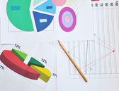 Financial charts — Stock Photo