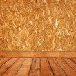 Old room with wooden wall — Stock Photo