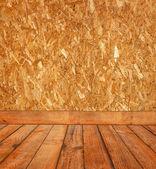 Habitación con pared de madera — Foto de Stock