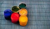 Colorful gouache paints — Stock fotografie