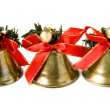 Three Christmas bells — Stock Photo #4455926