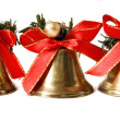 Three Christmas bells — Stock Photo