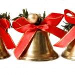 Three Christmas bells — Stock Photo
