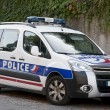 Modern french police car — Stock Photo