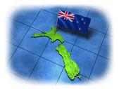 Nový zéland země s vlajkou — Stock fotografie