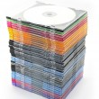 Multi-colored dvd slim box stacked — Stock Photo #4791792