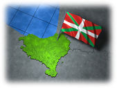 Basque country with its own flag — Stock Photo