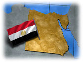 Egypt country with its flag — Stock Photo