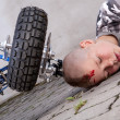 Stock Photo: Boy after accident