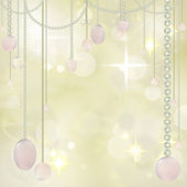 Beautiful Hanging beads on Festive Background — Stock Photo