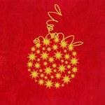金雪花圣诞 bauble — 图库照片