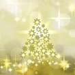 Golden Christmas Tree Background — Stock Photo #4236597