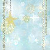 Golden Christmas Background — Stock Photo