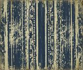 Blue scroll-work grunge wood stripes — Stock Photo