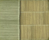 Earthy green and yellow bamboo strip background — Stock Photo