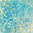 Glistening blue flower textured art background — ストック写真