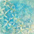 Stock Photo: Glistening blue flower textured art background