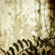 Grunge tangled branches on antique bamboo paper — Stock Photo #4579406