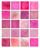 Pink Textured Background Set — 图库照片