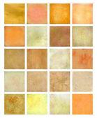 Conjunto de plano de fundo texturizado laranja e amarelo — Fotografia Stock