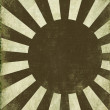 Antique Rising Sun Background - Stock Photo