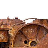 Rusty Cog from an Engine isolated — Stock Photo