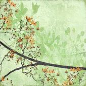 Tangled Blossom Border on Antique Paper — Stock Photo