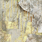 Grunge Wall with Peeled Paper — Stock Photo