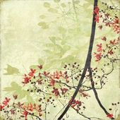 Tangled Blossom Border on Antique Paper — Stock Photo