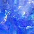 Blue Impressionist Textured Abstract - Stock Photo