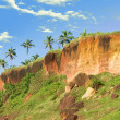 Tropical Cliff in Varkala on Kerala Coastline — Stock Photo