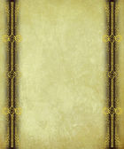 Antique Paper with Gold Scrollwork Borders — Stock Photo