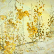 Yellow Flower Grunge Art Background — Stock Photo
