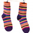 Royalty-Free Stock Photo: Socks hanging on a rope
