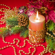 Christmas candle — Stock Photo #4421206