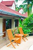 Garden Patio in hotel — Stock Photo