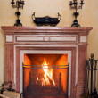 Foto Stock: Fireplace