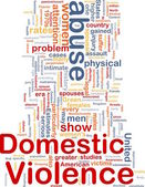 Domestic violence concept diagram — Stock Photo